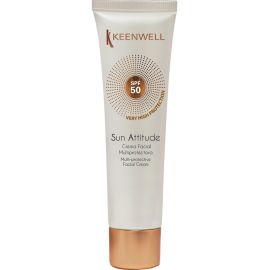 CREMA FACIAL MULTIPROTECTORA SPF50 SOLARES KEENWELL 60 ml