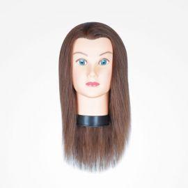 """MANIQUI GIRL BROWN 36cm 14"""" CASTAÑO 3B BIFULL CABELLO 100% HUMANO"""