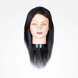 "MANIQUI GIRL BLACK 40cm 15.7"" NEGRO BIFULL CABELLO 100% HUMANO"