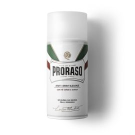 ESPUMA AFEITAR PRORASO LINEA BLANCA PIELES SENSIBLES TE VERDE & AVENA 50 ml