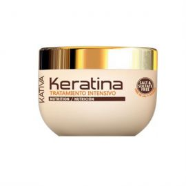 MASCARILLA DEEP TREATMENT KERATINA NUTRICION Y RECONSTRUCCION KATIVA 500 ml