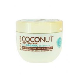 MASCARILLA DEEP TREATMENT RECONSTRUCCION Y BRILLO COCONUT KATIVA 250 ml