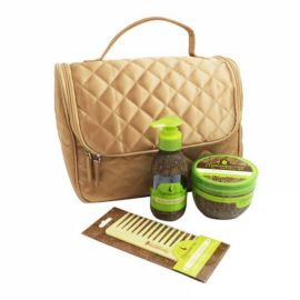 QUILTED SATIN BAG KIT MACADAMIA PROFESSIONAL