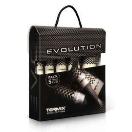 MALETIN 5 CEPILLOS TERMICOS EVOLUTION SOFT TERMIX